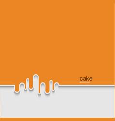 modern cake background design vector image
