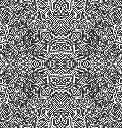 monochrome hand drawn seamless pattern vector image