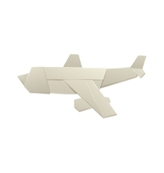 Origami airplane and origami paper plane handmade vector image