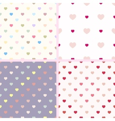 Set of 4 seamless geometric pattern with small vector image vector image