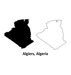 1010 algiers algeria map vector