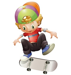 A young man skateboarding vector image