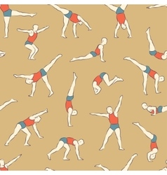 Acrobat pattern1 color vector image