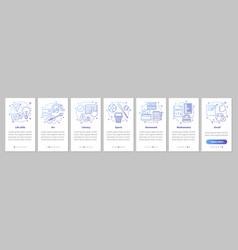 After school program onboarding mobile app page vector