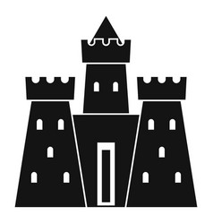 Ancient castle palace icon simple style vector