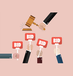 auction and bidding concept vector image