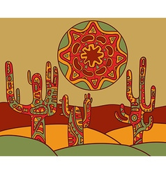 background with traditional mexican ornament vector image