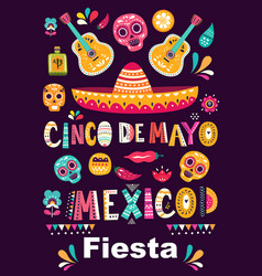 beautiful with design for mexican ho vector image