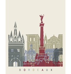 Bordeaux skyline poster vector