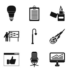 bulb icons set simple style vector image