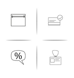 Business simple linear icon set outline icons vector