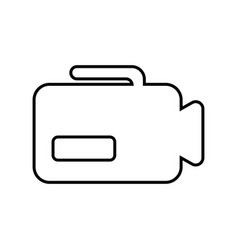 camcorder outline icon vector image