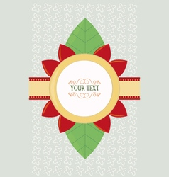 Card with flower vector