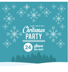 christmas part invitation card vector image