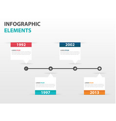 colorful text box business timeline infographics vector image