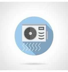 Conditioner outdoor unit round flat icon vector image
