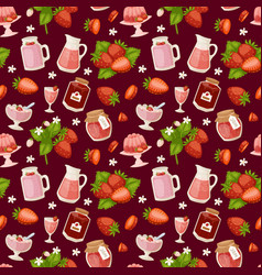 confectionery desserts strawberry pink delicious vector image