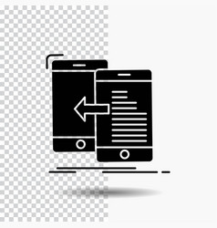 data transfer mobile management move glyph icon vector image
