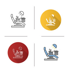 dental chair icon vector image