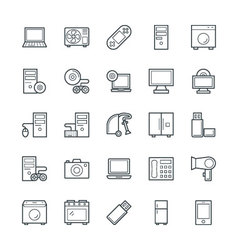 Electronic Cool Icons 2 vector
