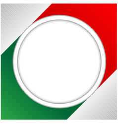 flag italy background frame with clean space vector image