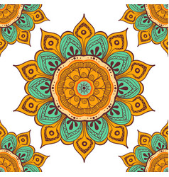 flower mandala colorful background for cards vector image