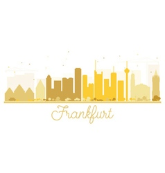 Frankfurt City skyline golden silhouette vector image