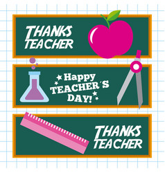 Decorate Teacher Day Board Vector Images 51