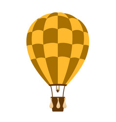 Hot air balloon in brown and orange design vector