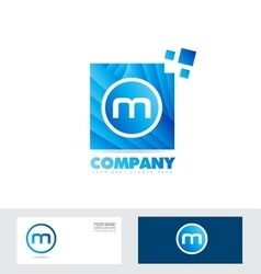 Letter M logo icon vector