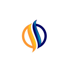 Letter s flame logo vector
