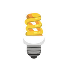light bulb in cartoon style idea vector image