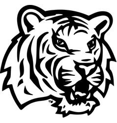 Lsu tiger head vector