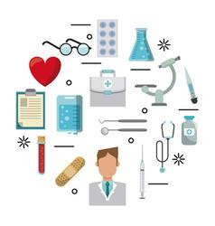 medical symbols set vector image