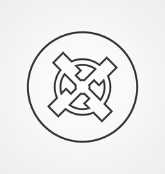 mill outline symbol dark on white background logo vector image