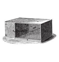 Mouse cage vintage engraving vector