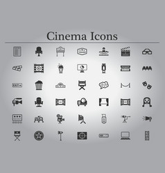 Movie cinema icons vector