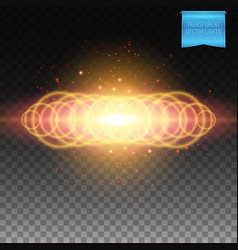 Multiple ringed bright fiery burst background vector