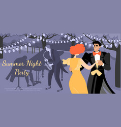 musicians and people dancing in vintage costumes vector image