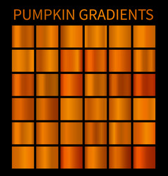 orange gradients for halloween banners flyers vector image