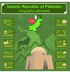 Pakistan infographics statistical data sights vector image
