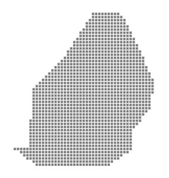 pixel map of mauritius dotted map of mauritius vector image