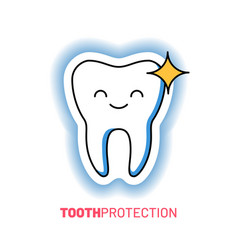 professional teeth cleaning and protection logo vector image