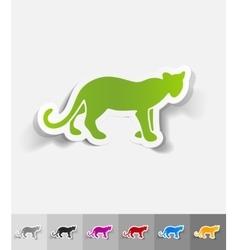 Realistic design element cheetah vector