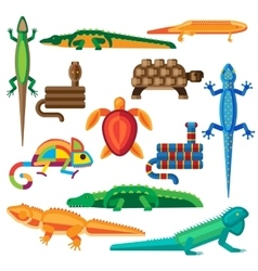 Reptiles set vector image
