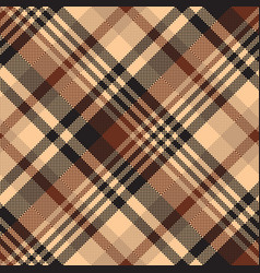 Seamless pattern tartan chocolate color background vector