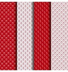 set christmas seamless patterns vector image