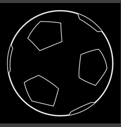 Soccer ball the white path icon vector