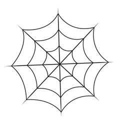 spiderweb isolated on white background vector image