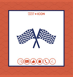 start finish cross flags icon vector image